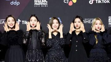 Las integrantes de Loona en una entrega de premios