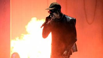 Travis Scott durante un concierto