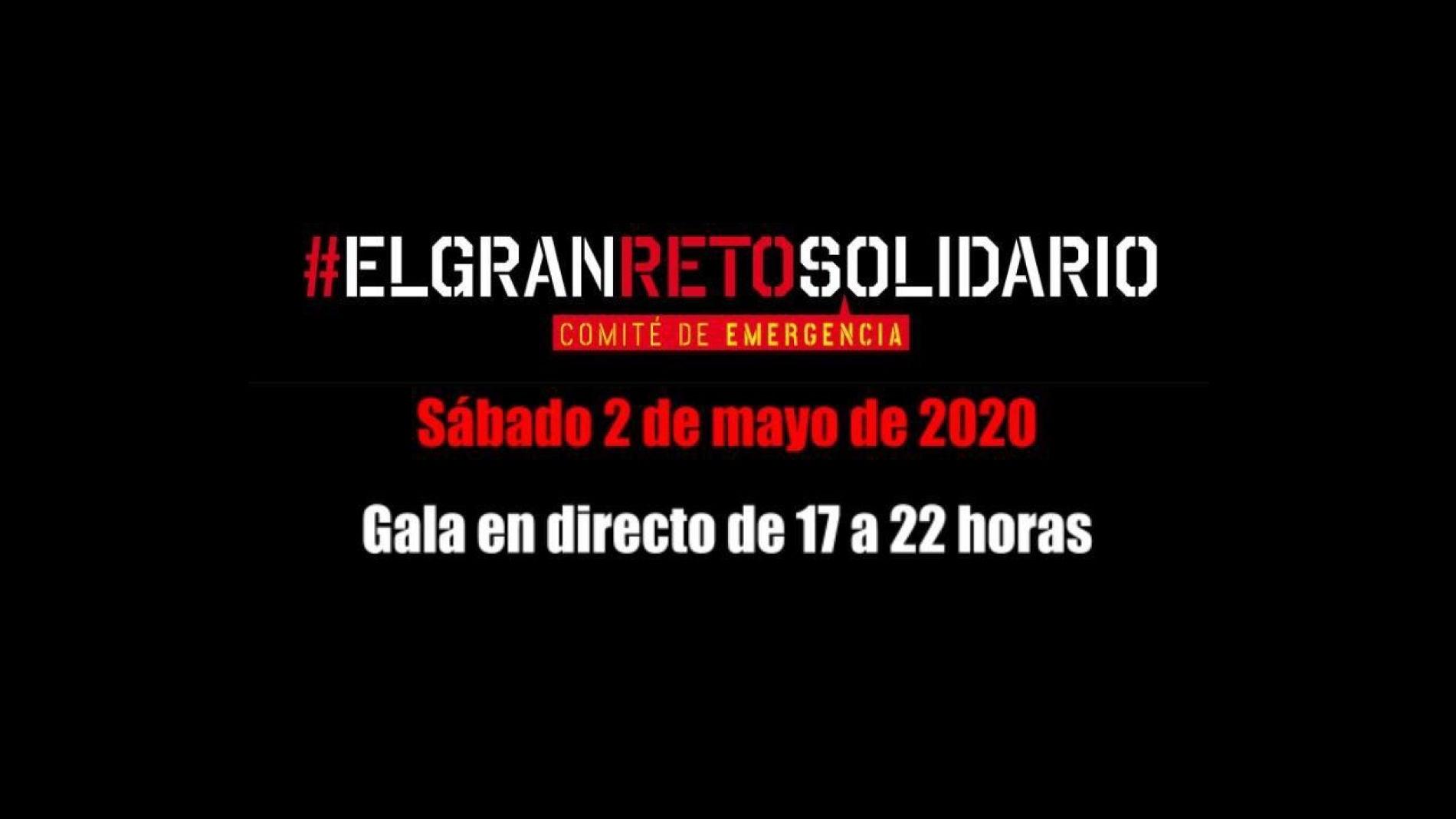 Atresmedia se une a #ElGranRetoSolidario