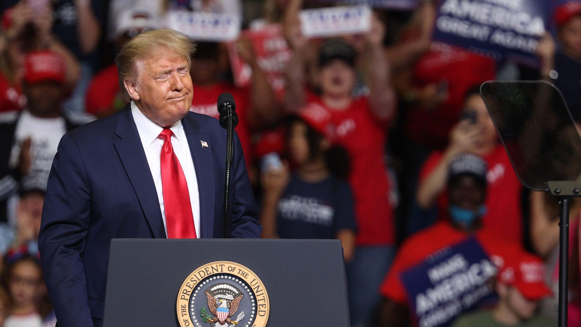 Donald Trump en un acto electoral
