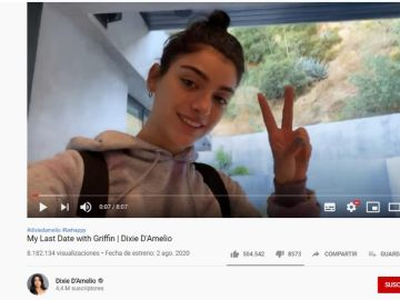 Dixie D'Amelio en su último vídeo de YouTube