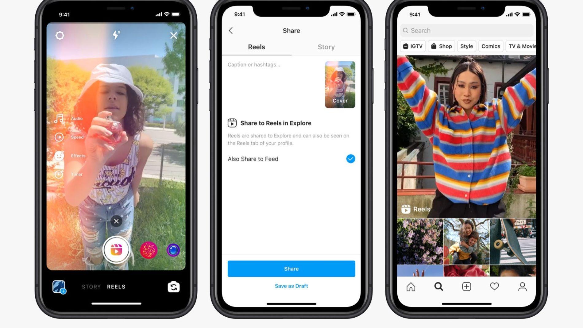 Reels, la función de Instagram para competir con TikTok