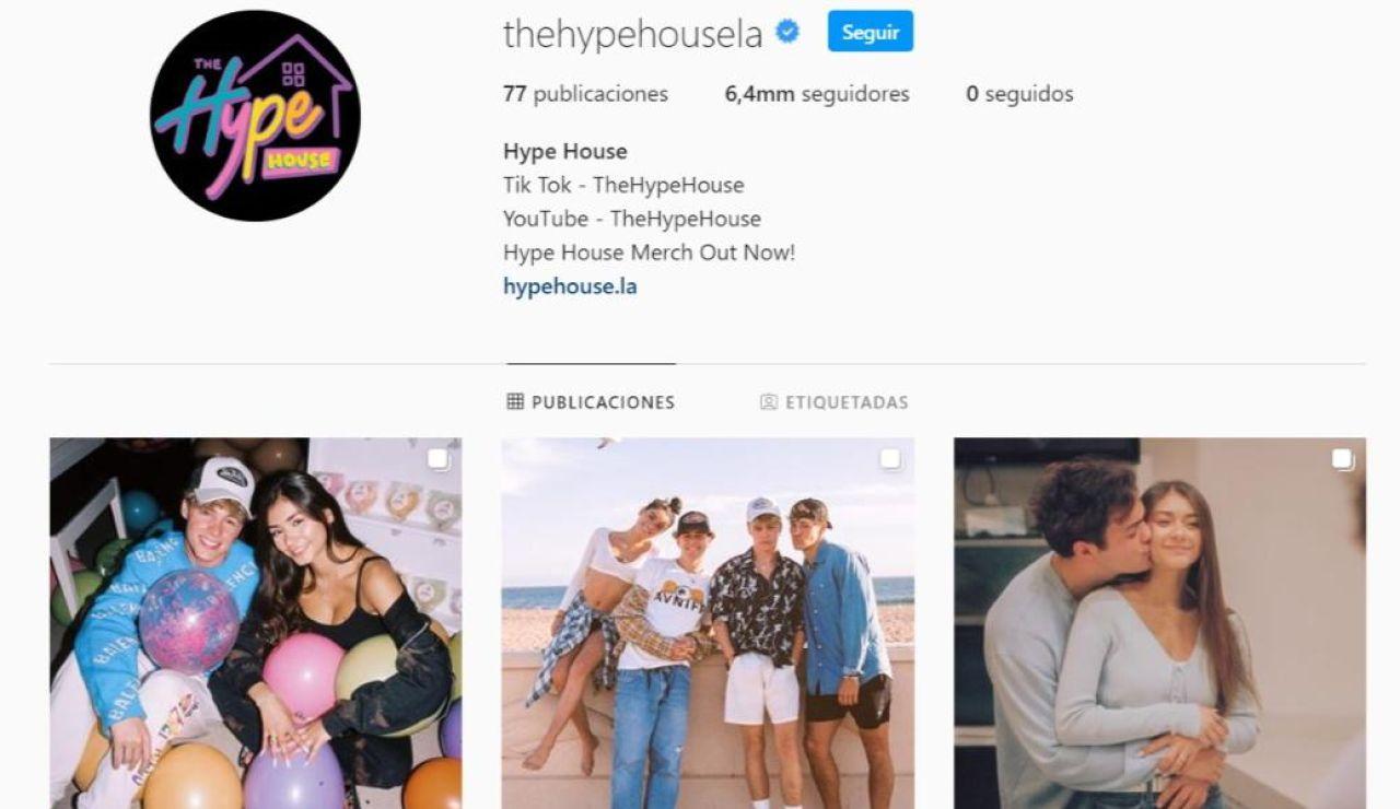 Perfil oficial de The Hype House