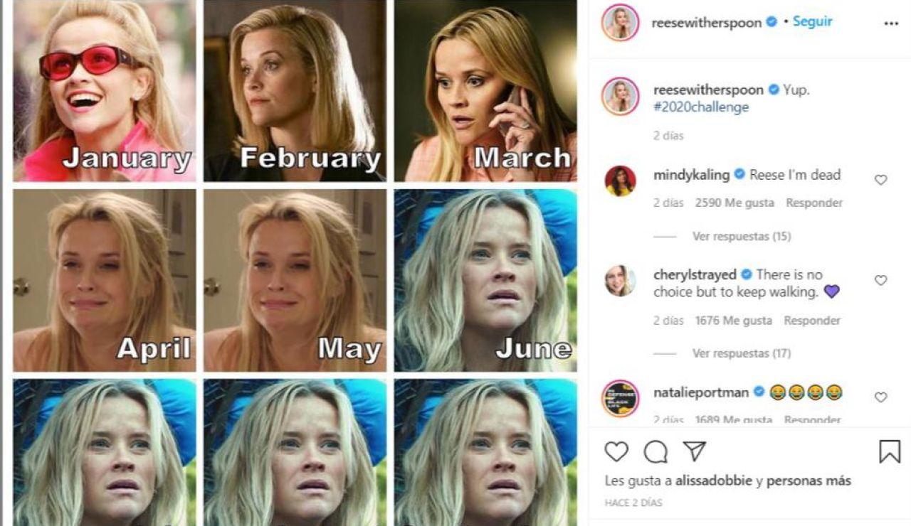 Reese Witherspoon ha creado el #2020Challenge