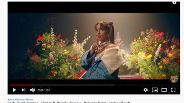 Rosalía en el videoclip de 'Relación Remix' de Sech