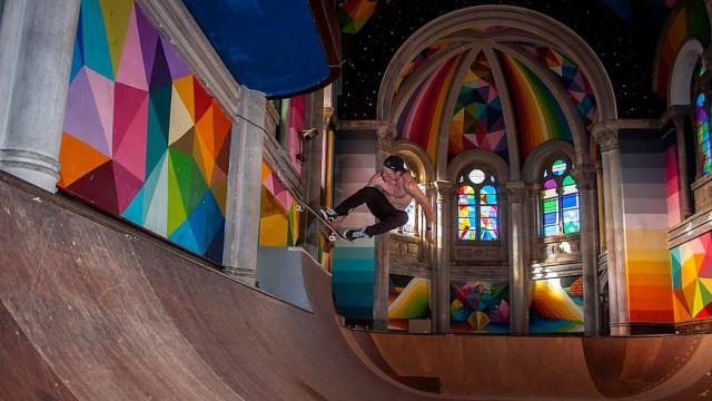 La Iglesia del Skate, en Llanes