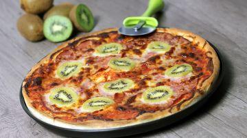 Pizza con kiwi