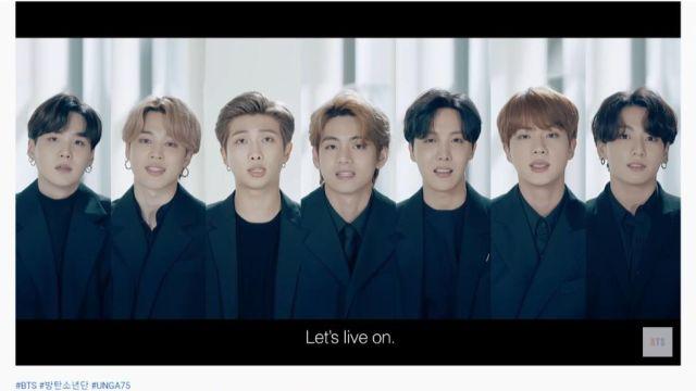 BTS en su discurso para la 75 Asamblea General de las Naciones Unidas