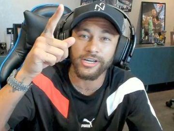 Neymar durante uno de sus streams