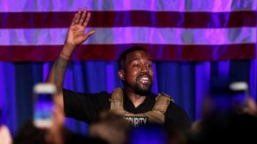 Kanye West durante su campaña electoral