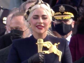 Lady Gaga en la investidura de Joe Biden