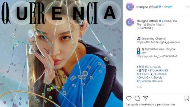 Chungha en la portada de su disco 'Querencia'