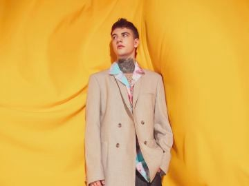 Daniel Marrero en su faceta como modelo