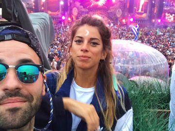 Michenlo y Marta Riumbau, en un selfie de 2017
