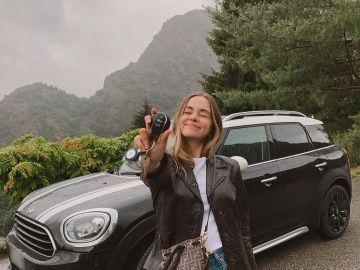 Silvia Muñoz de Morales, encantada con su primer coche