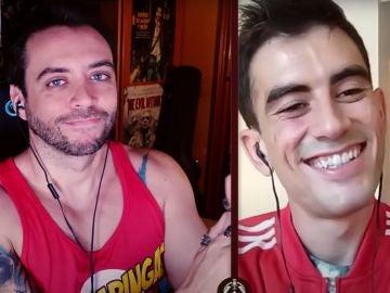 Jordi Wild y Jordi ENP, en un momento de la entrevista