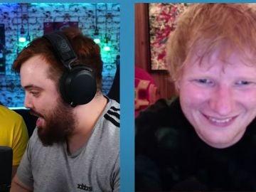 Barbe, Ibai y Ed Sheeran, en un momento de la entrevista