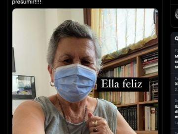 La abuela de Alberto Ginés, viral en Twitter