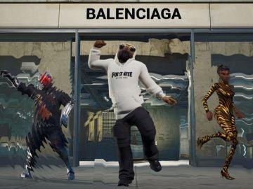 Algunas skins de Balenciaga en Fortnite